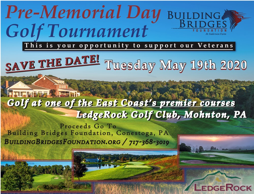 Save the Date! Pre-Memorial Day Golf Tournament - May 19, 2020